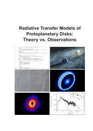 Radiative Transfer Models of Protoplanetary Disks: Theory vs ...