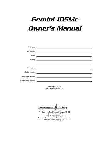 Gemini Owners Manual.pub - Gemini Gems