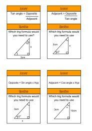 which trig formula - Mr Barton Maths