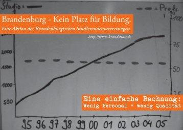 Brandenburg - Kein Platz für Bildung. - AStA