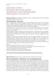 Alla abstracts (PDF) - Södertörns högskola