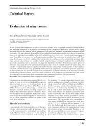 Evaluation of wine tasters Technical Report - und Obstbau ...