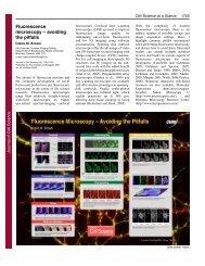 Fluorescence microscopy – avoiding the pitfalls