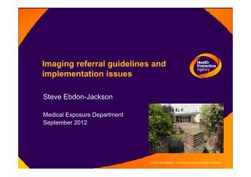 Imaging referral guidelines and implementation issues - myESR.org