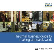 Small business guide to making standards work - BSI Shop - British ...