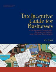 Tax Incentive Guide for Businesses in the Renewal ... - HUD