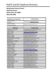 Staff E-mail & Telephone Directory - White Plains Public Schools