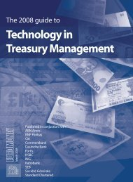 Technology in Treasury Management 2008 - Euromoney