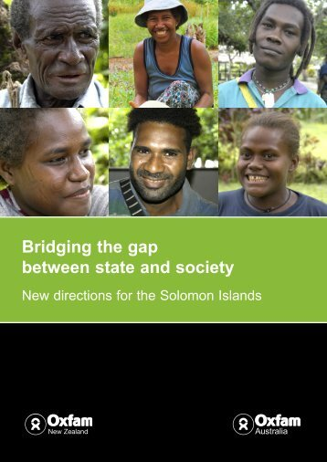 Bridging the gap between state and society - Oxfam New Zealand