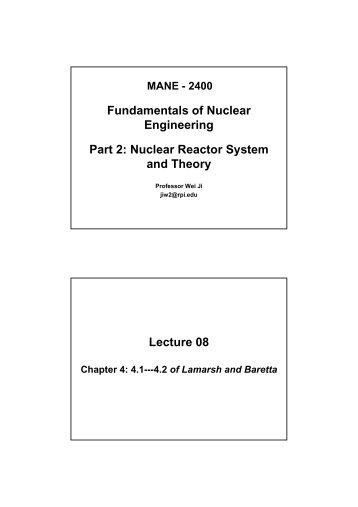 Nuclear Reactor Fuels (continued)