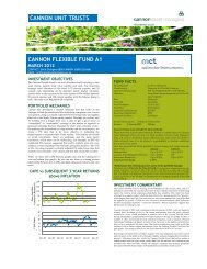 Cannon Flexible Fund Factsheet - Cannon Asset Managers
