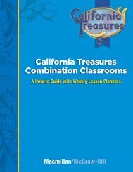 California Treasures Combination Classrooms