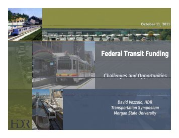 Federal Transit Funding - Morgan State University