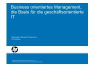 Business orientiertes Management, die Basis für die ... - usp MarCom