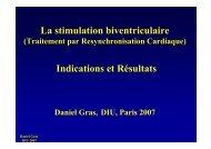 La stimulation biventriculaire Indications et Résultats