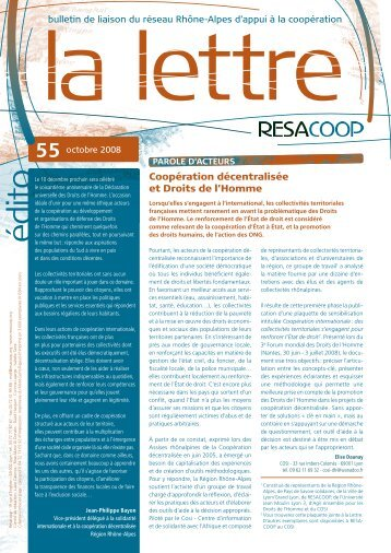 lettre au format PDF - Resacoop