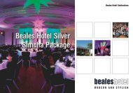 Download the Simcha Packages - Beales Hotels