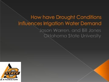 Drought Influence on Water Demand