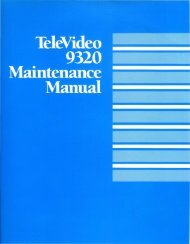 133002-00 Televideo 9320 Video Display Terminal Maintenance ...
