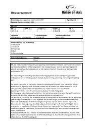 Bestuursvoorstel - Hunze en Aa's