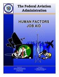 The Human Factors Job Aid - FAA Human Factors