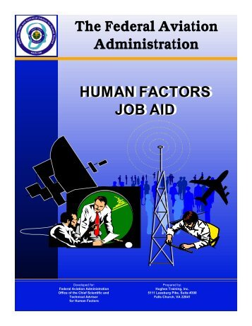 The Human Factors Job Aid - FAA Human Factors