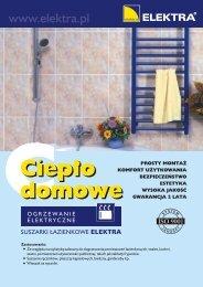 Suszarki łazienkowe Elektra - Ulotka