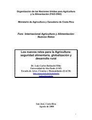 Los nuevos retos para la Agricultura: seguridad alimentaria ...