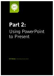 Using PowerPoint to Present