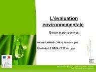 Evaluation environnementale - enjeux et perspectives - CoTITA