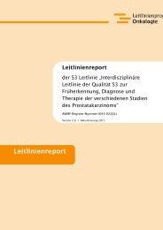 Leitlinienreport zur S3-Leitlinie Prostatakarzinom - AWMF