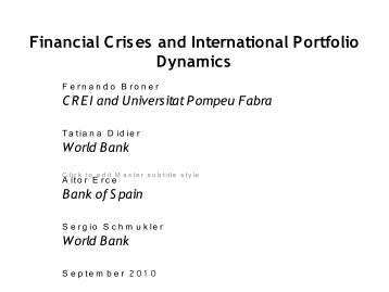 Financial Crises and International Portfolio Dynamics