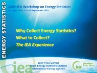 Why Collect Energy Statistics? What to Collect? The IEA Experience
