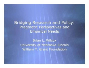 Brian Wilcox, University of Nebraska, Lincoln - Society for ...
