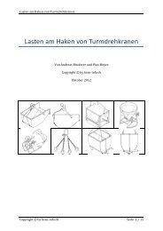 Lasten am Haken von Turmdrehkranen - kran-info.ch
