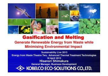 Gasification and Melting Gasification and Melting - Sustainability Live