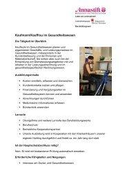 Kaufmann/Kauffrau im Gesundheitswesen - Annastift