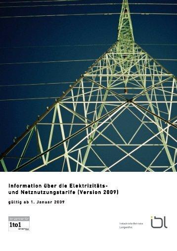 Elektrizitäts- und Netznutzungstarife - Gate24.ch