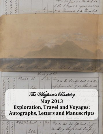 May 2013 Exploration, Travel and Voyages - The Wayfarer's Bookshop