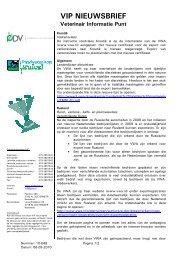 VIP nieuwsbrief nr. 10-048 van 06-09-10 met informatie over