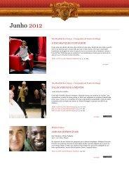 Agenda Digital Junho 2012 - Theatro Circo
