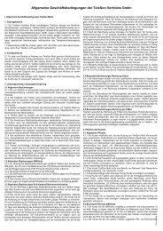 Allgemeine Geschäftsbedingungen der TeleSon Vertriebs GmbH