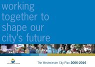 The Westminster City Plan 2006-2016 - Westminster City Council
