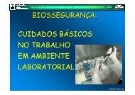 cuidados básicos no trabalho em ambiente laboratorial - Fiocruz