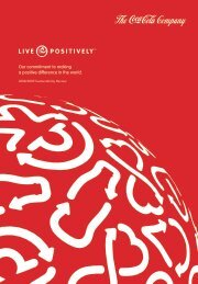 2008/2009 Sustainability Review - The Coca-Cola Company