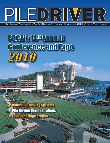 PDCA's 14th Annual Conference and Expo - Pile Driving ...