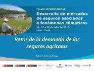 Retos de la demanda de los seguros agrícolas - Proyecto de ...