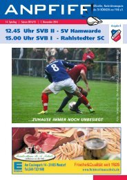 Anpfiff Ausgabe 8 zum 14. Spieltag