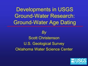 RECHARGE and Other Hydrologic Phenomenon - Water Resources ...