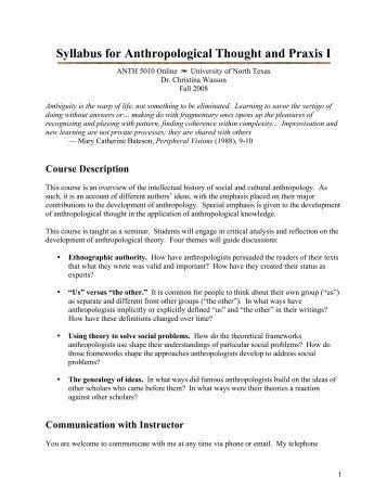 anthropology syllabus Anthropology_syllabuspdf - download as pdf file (pdf), text file (txt) or read online anthropology.